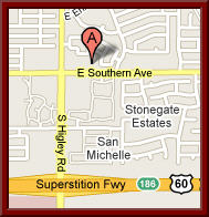 Map to A New Beginning OBGYN in Mesa, AZ 85206